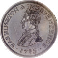 Colonials, 1783 1C Washington & Independence Cent, Small Military Bust,Plain Edge AU58 PCGS....