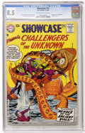 Silver Age (1956-1969):Superhero, Showcase #12 Challengers of the Unknown (DC, 1958) CGC VF+ 8.5Off-white to white pages....