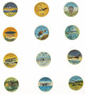 Non-Sport Cards:General, 1960s Jell-O Famous Aircraft of the World Coins Complete Set (200).In the early 1960s boxes of Jell-O and others General F...