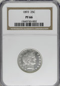 Proof Barber Quarters: , 1893 25C PR66 NGC. . NGC Census: (52/36). PCGS Population (30/20). Mintage: 792. Numismedia Wsl. Price for NGC/PCGS coin in...