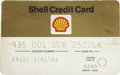 Movie/TV Memorabilia:Memorabilia, Frank Sinatra's Credit Card. A Shell credit card owned and used byFrank Sinatra in the early '80s (the card expired in Augu...(Total: 1 Item)