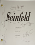 "Movie/TV Memorabilia:Autographs and Signed Items, Seinfeld Cast Signed Final Episode Script. A table draftscript for the final episode (""The Finale""), dated March 31...(Total: 1 Item)"