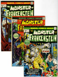 Bronze Age (1970-1979):Horror, The Monster of Frankenstein #1-5 Group (Marvel, 1973) Condition:Average VF/NM.... (Total: 5 Comic Books)
