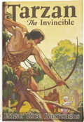Books:First Editions, Edgar Rice Burroughs. Tarzan the Invincible. Tarzana,California: Edgar Rice Burroughs, Inc. Publishers, [1931]....