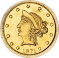California Fractional Gold, 1871 50C Liberty Round 50 Cents, BG-1044, High R.6, MS64 PCGS....