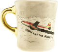 Movie/TV Memorabilia:Memorabilia, Coffee Cup Given to Karen Kramer from John Wayne. Paving the wayfor the disaster film genre, 1954's The High and the Migh...(Total: 1 Item)