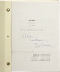 Movie/TV Memorabilia:Autographs and Signed Items, Bill Clinton Autographed Draft of High Noon Teleplay.Actress Karen Kramer's personal copy of the final draft of...(Total: 1 Item)