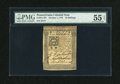 Colonial Notes:Pennsylvania, Pennsylvania October 1, 1773 10s PMG About Uncirculated 55 EPQ....