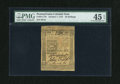 Colonial Notes:Pennsylvania, Pennsylvania October 1, 1773 50s PMG Choice Extremely Fine 45EPQ....
