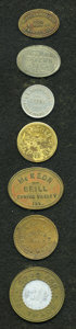 20th Century Tokens and Medals, Septet of Attributed 20th Century Merchant Tokens.... (Total: 7tokens)