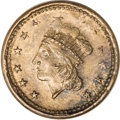 Civil War Patriotics, 1864 Liberty Head/Union For Ever, Fuld-54/342a, R.1--DoubleStruck--MS60 Red and Brown Uncertified....