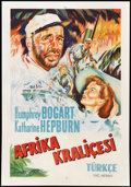 """Movie Posters:Adventure, The African Queen (United Artists, 1952). Turkish Poster (26.5"""" X38""""). Adventure...."""