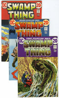 Bronze Age (1970-1979):Horror, Swamp Thing #1-3 Group (DC, 1972-73) Condition: Average VF+....(Total: 4 Comic Books)