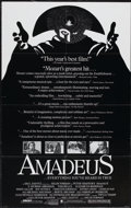 """Movie Posters:Drama, Amadeus (Orion, 1984). One Sheet (25"""" X 40"""") Review Style.Drama...."""