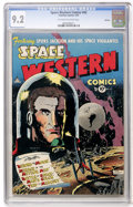 Golden Age (1938-1955):Science Fiction, Space Western #43 Spokane pedigree (Charlton, 1953) CGC NM- 9.2Off-white to white pages....