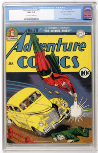 Adventure Comics #70 Mile High pedigree (DC, 1942) CGC NM+ 9.6 Off-white to white pages