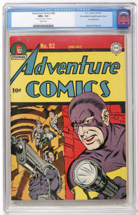 Adventure Comics #92 Mile High pedigree - Double Cover (DC, 1944) CGC NM+ 9.6 White pages