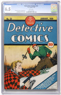 Golden Age (1938-1955):Crime, Detective Comics #23 (DC, 1939) CGC FN+ 6.5 White pages....