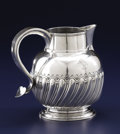 Silver Holloware, British:Holloware, A GEORGE III SILVER PITCHER. Thomas Whipham, London, England,1757-1758. Marks: (lion passant), (leopard's head crowned),...