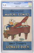 Golden Age (1938-1955):Funny Animal, March of Comics #41 Donald Duck (K. K. Publications, Inc., 1949)CGC VF/NM 9.0 Cream to off-white pages....