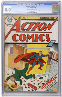 Action Comics #7 (DC, 1938) CGC VF 8.0 Off-white to white pages