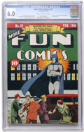 Golden Age (1938-1955):Superhero, More Fun Comics #52 (DC, 1940) CGC FN 6.0 Cream to off-white pages....
