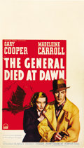 "Movie Posters:Adventure, The General Died at Dawn (Paramount, 1936). Midget Window Card (8""X 14"")...."