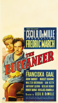 "Movie Posters:Adventure, The Buccaneer (Paramount, 1938). Midget Window Card (8"" X 14"")...."