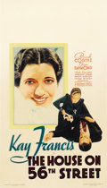 "Movie Posters:Drama, The House on 56th Street (Warner Brothers, 1933). Midget WindowCard (8"" X 14"")...."