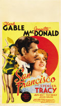 "Movie Posters:Romance, San Francisco (MGM, 1936). Midget Window Card (8"" X 14"")...."