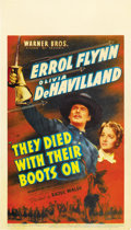 "Movie Posters:Western, They Died With Their Boots On (Warner Brothers, 1941). Midget Window Card (8"" X 14"")...."