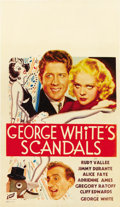 "Movie Posters:Musical, George White's Scandals (Fox, 1934). Midget Window Card (8"" X14"")...."