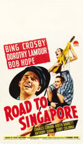 "Movie Posters:Comedy, Road to Singapore (Paramount, 1940). Midget Window Card (8"" X14"")...."