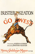 "Movie Posters:Comedy, Go West (MGM, 1925). Window Card (14"" X 22"")...."