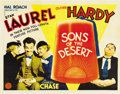 "Movie Posters:Comedy, Sons of the Desert (MGM, 1933). Half Sheet (22"" X 28"")...."