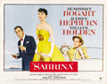 "Movie Posters:Romance, Sabrina (Paramount, 1954). Half Sheet (22"" X 28"")...."