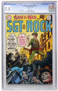 Our Army at War #214 (DC, 1970) CGC VF- 7.5 White pages