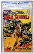 Golden Age (1938-1955):War, Star Spangled War Stories #44 (DC, 1956) CGC FN/VF 7.0 Cream tooff-white pages....