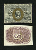 Fractional Currency:Second Issue, Fr. 1283SP 25c Second Issue Narrow Margin Pair Gem New.... (Total: 2 notes)