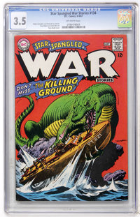 Star Spangled War Stories #134 (DC, 1967) CGC VG- 3.5 Off-white pages