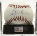 Autographs:Baseballs, Rickey Henderson Single Signed Baseball, PSA Mint 9. Considered thebest leadoff man in the history of the game, it's not lo...