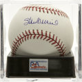 Autographs:Baseballs, Stan Musial Single Signed Baseball, PSA Mint+ 9.5. About as fine of a single as you'll see courtesy of Stan the Man. Ball h...