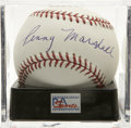 Autographs:Baseballs, Penny Marshall Single Signed Baseball, PSA Mint+ 9.5. Prominentcelebrity backer of sports Penny Marshall shows her love for...