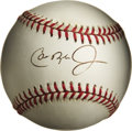 Autographs:Baseballs, Cal Ripken Jr. Single Signed Baseball. The 19 time MLB All-Star wasduly elected into the Hall of Fame in 2007. The lifetim...