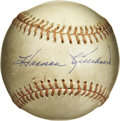 Autographs:Baseballs, Harmon Killebrew Single Signed Baseball. Eleven All-Starappearances, being named the American League MVP, and hispenchan...