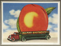 "Music Memorabilia:Posters, Allman Brothers Eat a Peach Lenticular Display. A rare 24"" x18"" psychedelic lenticular reproduction of the cove... (Total: 1Item)"