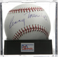 Autographs:Baseballs, Penny Marshall Single Signed Baseball, PSA Mint+ 9.5. The directorof the baseball movie A League of Their Own, has sup...