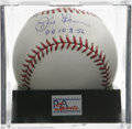 "Autographs:Baseballs, Don Larsen ""PG 10-8-56"" Single Signed Baseball, PSA Gem Mint 10. Aperfect single from the only World Series Perfect Game ..."