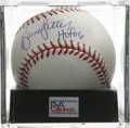 "Autographs:Baseballs, Bruce Sutter ""HOF 06"" Single Signed Baseball, PSA Mint+ 9.5. One ofthe newest Hall of Famers makes reference to his inclus..."