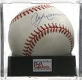 "Autographs:Baseballs, Andre Dawson Single Signed Baseball, PSA Mint 9. Unimprovable inksignature has been applied by ""The Hawk"" Andre Dawson. Ba..."